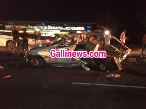 Truck and Scorpio car Accident main 3 logon ki death 1 injured at Ahmednagar Pune Highway