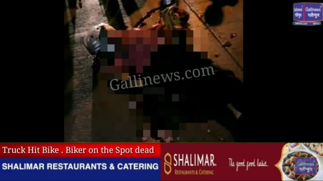 Truck hit bike biker on the spot death at Vasinaka