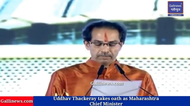 Uddhav Thackeray takes oath as Maharashtra Chief Minister