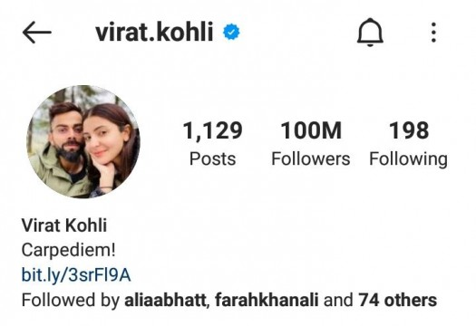 Virat Kohli Becomes 1st Indian 1st Asian and 1st Cricketer To get 100mn Followers on Instagram