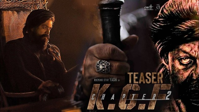 Watch The Official Teaser Of KGF Chapter2 Yash and Sanjay Dutt