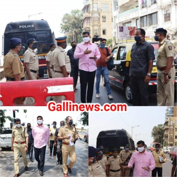 Weekend Lockdown ka Jayza liya Guardian Minister Aslam Shaikh ne at South Mumbai