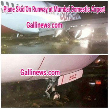 Spicejet Plane Skid On Runway at Mumbai Domestic Airport