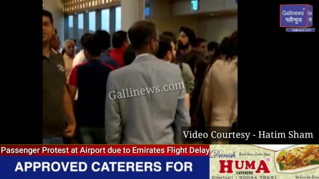 Passenger Protest at Airport due to Emirates Flight Delay