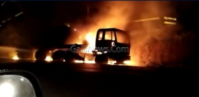 Fire in Trailer Truck Driver dead at Mangaon Vile Bhagad Industrial Estate