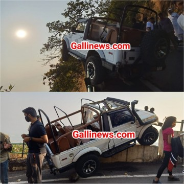 Gypsy Latki hawa main at Matheran aaj subha hua haadsa No Injurey reported