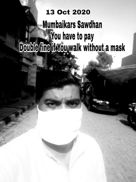 Without Mask Ghumne walon ab Fine hoga Double Rs 400 fine legi Mumbai main BMC