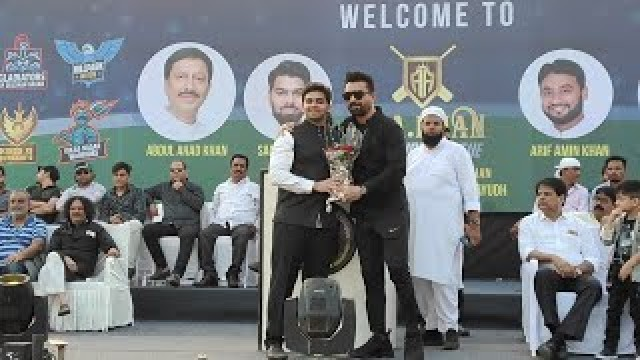 Ajaz Khan pohchai A A Khan Champions League Cricket Match Opening Ceremony at BMC Ground Veera Desai