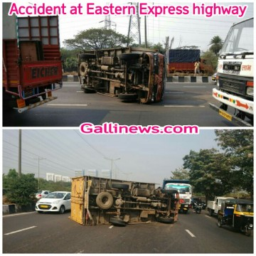 Accident at Eastern Express highway