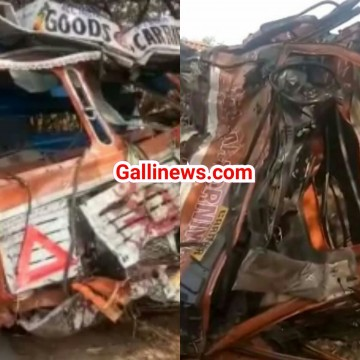 Containor se Tempo ki takkar Mumbai - Ahmadabad National Highway Palghar ke pass hua accident 2 dead
