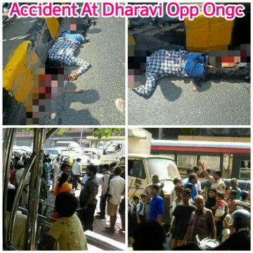 Accident At Dharavi Opp Ongc