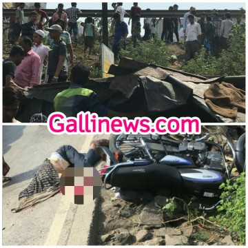 Accident At Mumbra Bypass Biker Died On The Spot