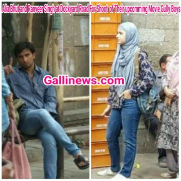 Alia Bhatt and Ranveer Singh at Dockyard Road For Shoot  for Their upcomming Movie Gully Boys