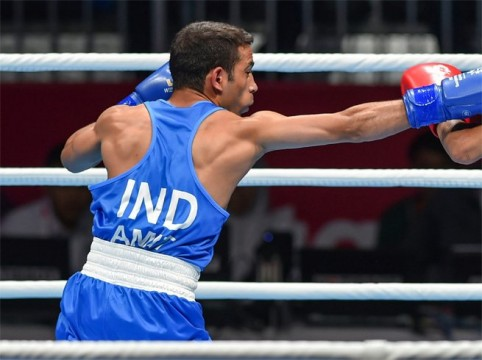 Boxer Amit Pangal won the Gold medal