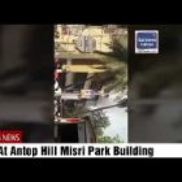 Fire At Antop Hill  Misri Park Building