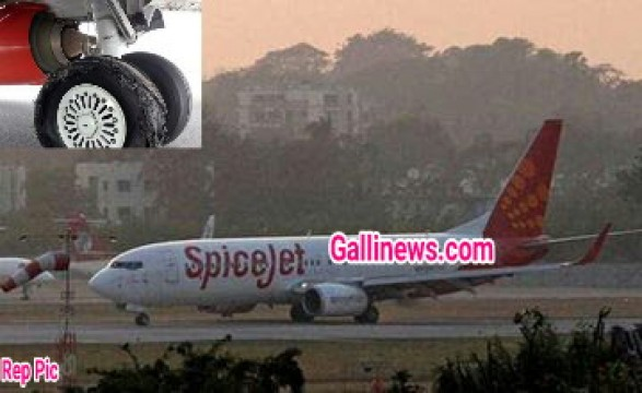 Spicejet Bangkok bond Aeroplane ka take-off ke waqt tyre burst hogaya No injurey reported