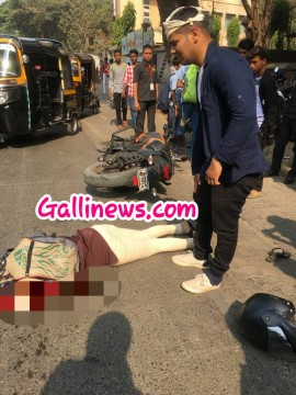 BEST Bus ki Bike se takkar 1 lady dead on the spot Marve Road Malad