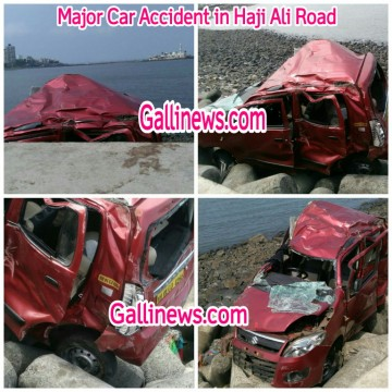 Major Car Accident in Haji Ali Road