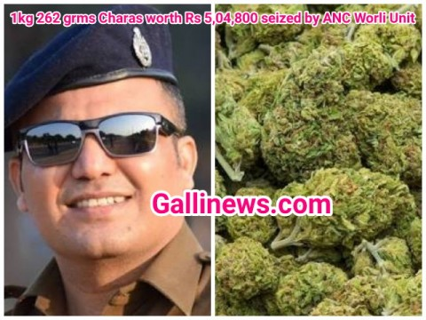 1kg 262 grms Charas worth Rs 504800 seized by ANC Worli Unit
