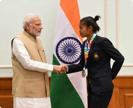 Chetna Well Played And Won Gold Medal For India