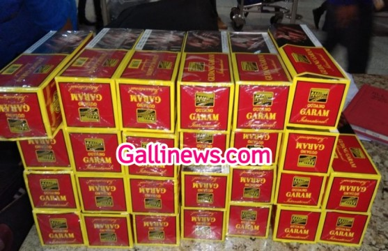 96 Cigarette box caught on Mumbai Airport