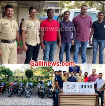 Motorcycle cycle ke 12 case ke sath Bike under seat storage se chori ke 3 case solved by Navi Mumbai Police