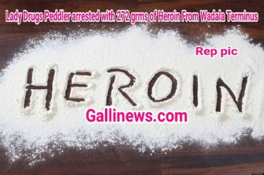 Lady Drugs Peddler arrested with 272 grms of Heroin From Wadala Terminus seized by Worli Anti Narcotics Cell