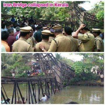 57 injured and 1 dead after Iron bridge collapsed in Kerala