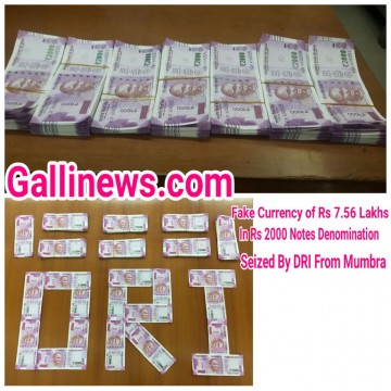 Fake Currency of Rs 2000 Denominations Value of Rs 7 Lakhs 56 Thousound Seized by DRI at Mumbra