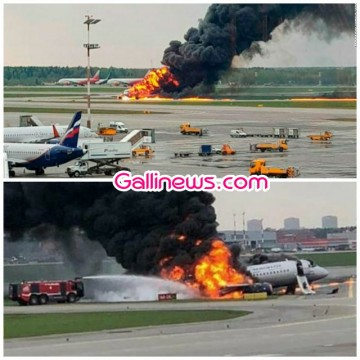 41 feared dead in fire Airplane emergency crash landing ke waqt plane main lagi aag at Moscow