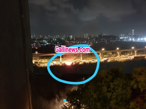 Fire in Vehicle at Bhakti Park Wadala