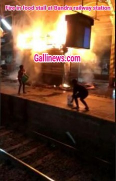 Fire at food stall on Bandra station