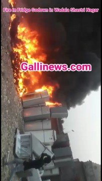 Fire In Fridge Godown in Wadala Shastri Nagar