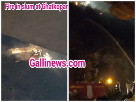 Fire at Slum Area in Ghatkopar