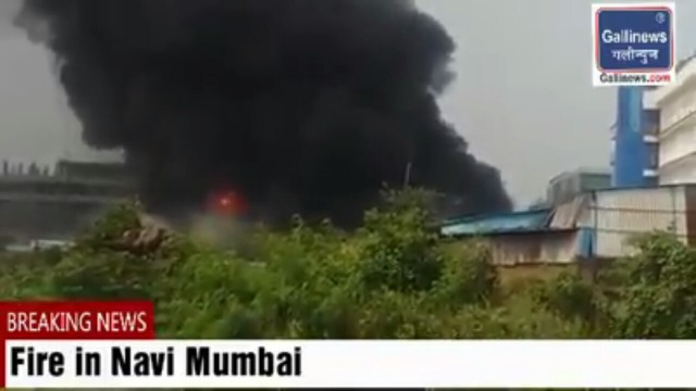 Major fire at Mechemco Chemical Company in Turbhe MIDC Navi Mumbai