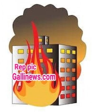 Fire in 6th Floor of Residental 22 storey Tower Building due to Short Circuit at Dahiser