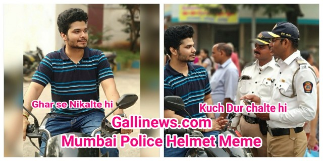 Mumbai Police New Meme  Ghar se Nikalte hi Kuch Dur Chalte hi  Getting Viral on Social Media
