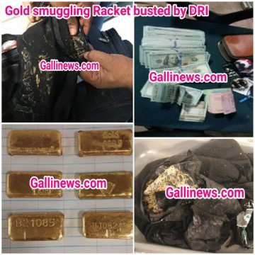 Foreign Currency worth 25 lakhs and  Gold smuggling of 1.6 kg  racket busted by DRI