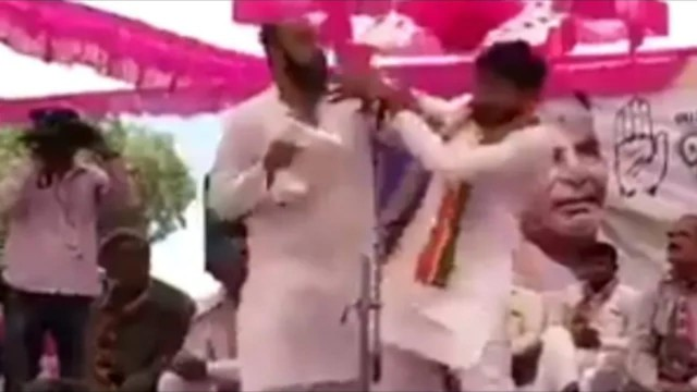 Congress Leader Hardik Patel ko Unknown Aadmi ne Maara Thappad