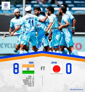Asian Games 2018 India Beat by japan 8-0