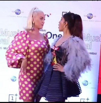 Katy Perry and Jacqueline Fernandez already look like BFFs as they pose and say Namaste to the paps