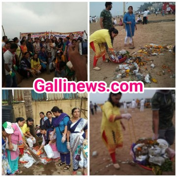 Juhu Beach Cleanup Due to Ganpati Visarjan