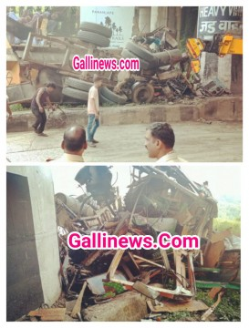 Khandala Ghat par Milk Tanker ka accident Driver ki death on the spot