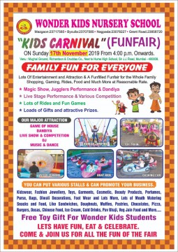 Kids Carnival at Richardson and Cruddas by Wonder Kids Nursery School