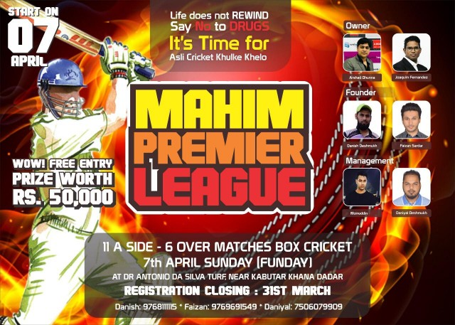 First Successful Mahim Premiere League at Mahim Sponsered by Octa Networks