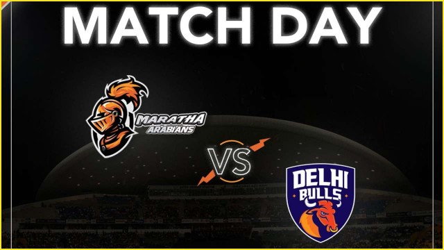 T10 League Delhi Bulls vs Maratha Arabians