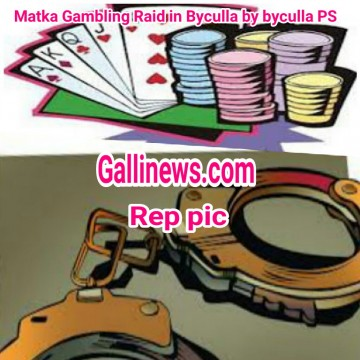 Matka Gambling Raid in  Byculla by Byculla police station