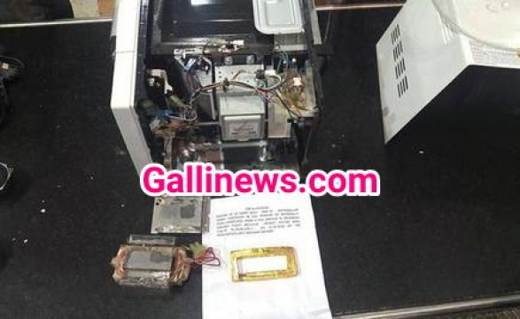 Gold  Smuggling in Micro Oven and Speaker worth Rs. 48 lakh seized from two air passengers in Madurai