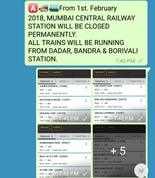 Mumbai Central Station band hone ka fake message social media me viral
