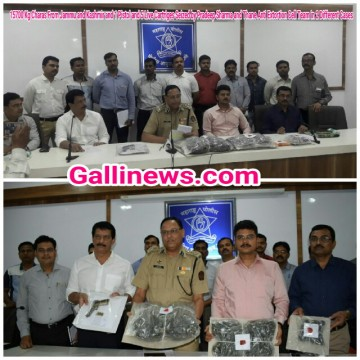 15700 Kg Charas From Jammu and Kashmir and 1 Pistol and 5 Live Cartriges Seized by Pradeep Sharma and Thane Anti Extortion Cell Team in 2 Different Cases